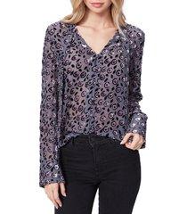 women's paige vyenna burnout blouse