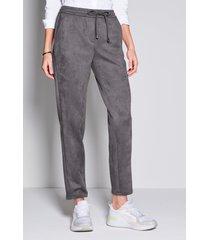 broek in jogg-pant-stijl pasvorm barbara van peter hahn grijs