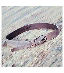 leather belt, 'classical cocoa' (peru)