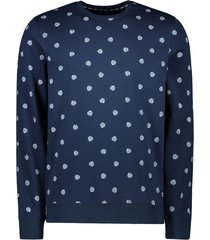 cars jeans sweater donkerblauw met stip 40480/12