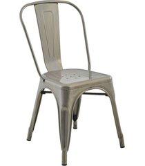 conjunto 02 cadeiras iron aã§o rivatti - cinza - dafiti