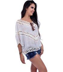 blusa bali beach ombro a ombro branco