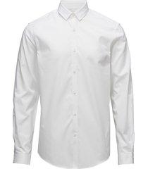 plain twill stretch shirt l/s overhemd business wit lindbergh