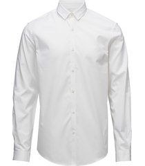 plain twill stretch shirt l/s overhemd business wit lindbergh