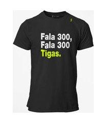 camiseta t-shirt jon cotre frase fala 300 preto