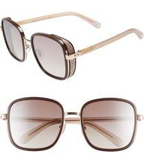 jimmy choo elva 54mm square sunglasses in plum at nordstrom