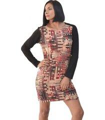 vestido estampado rayas rojo alexandra cid