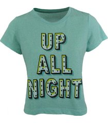 camiseta aeropostale para mujer-gris oscuro-verde