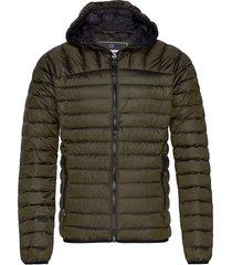 core down hooded jacket gevoerd jack groen superdry