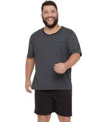 pijama masculino manga curta plus size com algodão luna cuore
