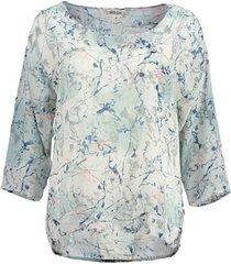 garcia polyester shirt 3/4 mouw