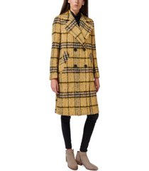 sam edelman oversized double-breasted plaid walker coat, created for macy's