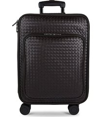 cabin 21-inch leather carry-on suitcase
