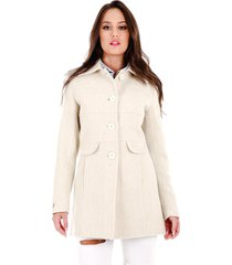 casaco rigotto 3/4 marfim