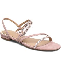 ravena/sandalo /suede shoes summer shoes flat sandals rosa guess