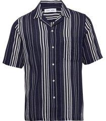 oscar ac shirt 11528 overhemd met korte mouwen zwart samsøe samsøe