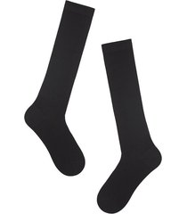 calzedonia tall wool and cotton socks man black size 44-45