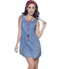 vestido corto azul atypical