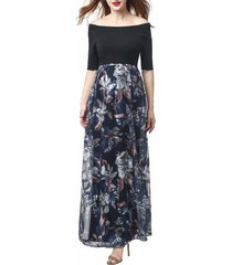 women's kimi and kai mabel off the shoulder maternity maxi dress, size x-large - none