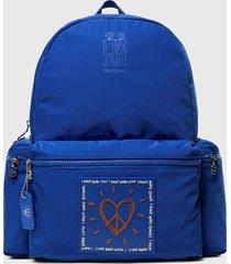 mochila mini azul desigual