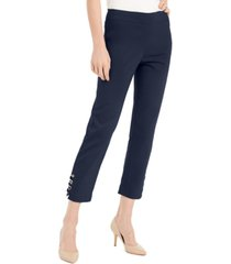 jm collection tummy control hardware-trim ankle pants, created for macy's
