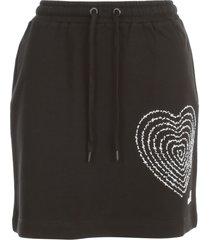 love moschino short knitted skirt w/heart