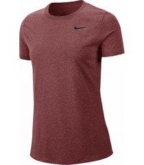 camiseta marrón nike w nk dry leg tee crew