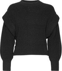 kharla stickad tröja svart iro