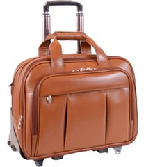 mcklein damen patented detachable -wheeled laptop briefcase