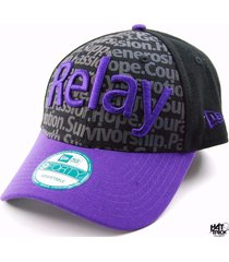 new era 9forty american cancer society relay for life style cap hat - osfm
