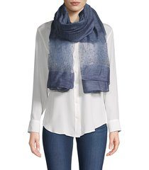 saachi women's star gazer silk & wool scarf - blue