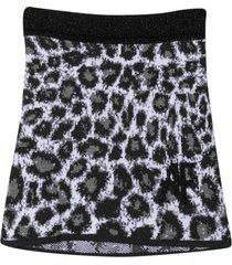 alberta ferretti gray skirt