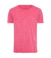 camiseta masculina textura logo - vermelho