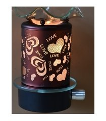 copper hearts & love wall plugin oil/tart warmer use with scentsy/yankee candle