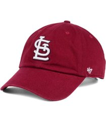 '47 brand st. louis cardinals cardinal and white clean up cap