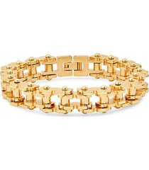 18k goldplated stainless steel bicycle chain link bracelet
