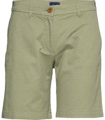 d1. classic chino shorts bermudashorts shorts groen gant