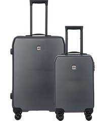 mennagio two-piece suitcase set