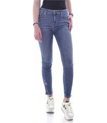 jeans brodé skinny stretch zip
