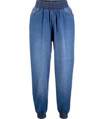 jeans baggy con cinta elastica (blu) - bpc bonprix collection