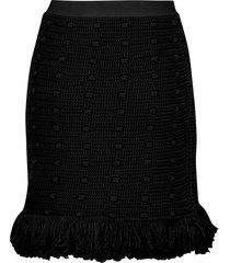 bottega veneta fringed skirt
