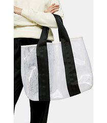 latch black and white large mesh tote bag - monochrome