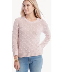vince camuto women's popcorn crewneck sweater in color: soft pink size xs from sole society
