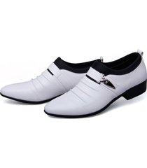 zapatos de moda oxfords de negocios de la pu hombres zapatos de boda