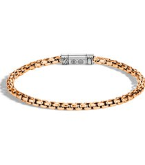 men's john hardy men's classic bronze box chain bracelet