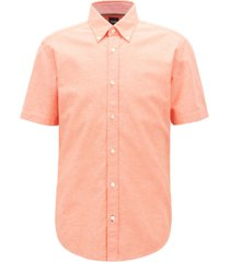 boss men's roddy 2 slim-fit short-sleeved shirt