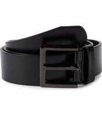 calvin klein women's faux leather belt - black - size l