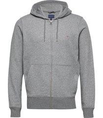 the original full zip hoodie hoodie trui grijs gant