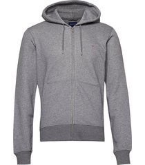 the original full zip hoodie sweat-shirts & hoodies hoodies grijs gant