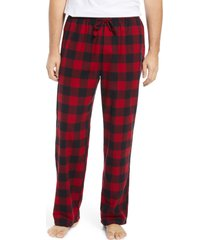 men's l.l.bean men's scotch plaid flannel pajama pants, size small - red